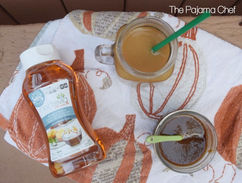 Pumpkin Spice Coffee Syrup + Cold Brew Coffee Method #steviva #sweetandeasy | thepajamachef.com