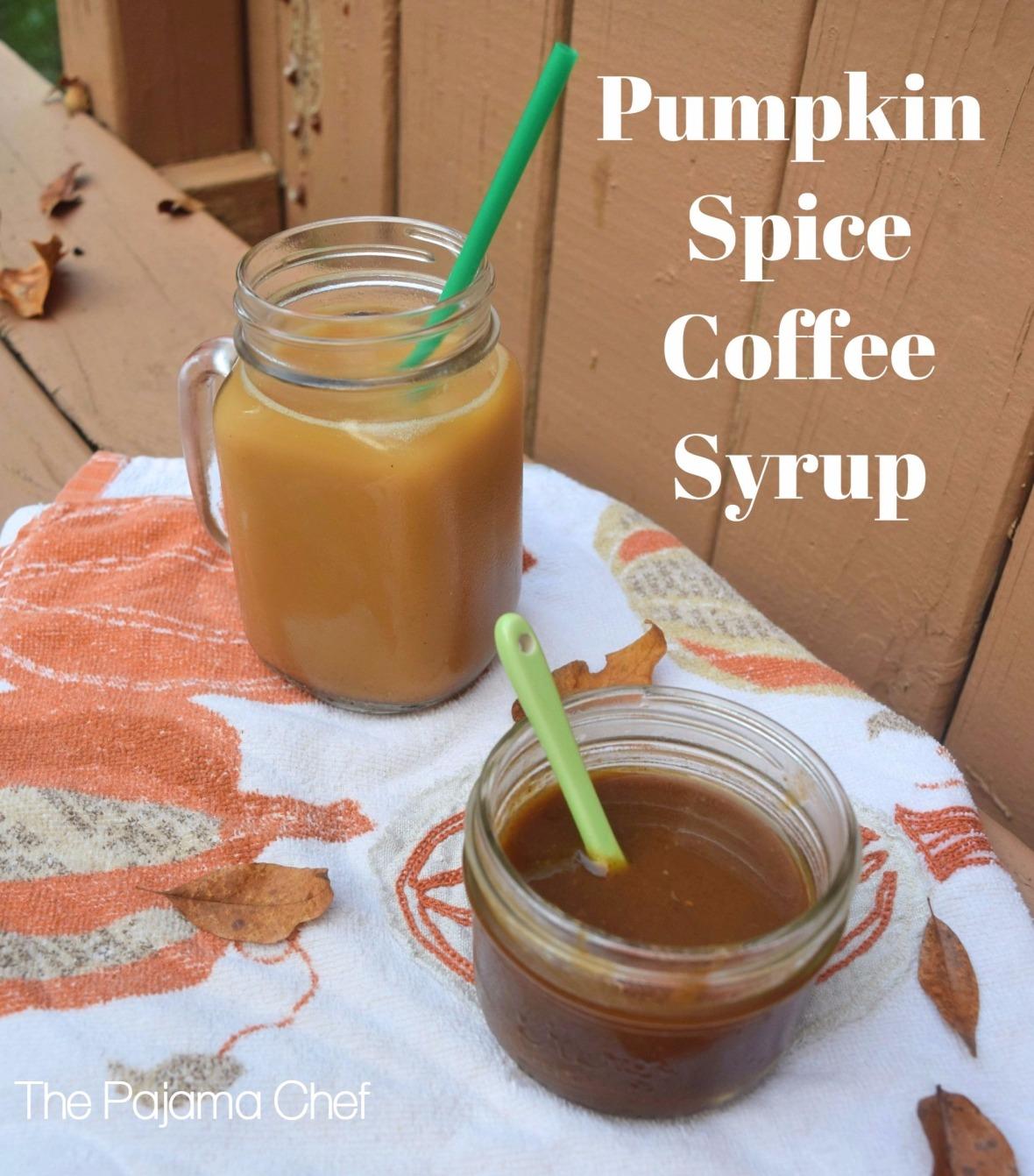 Pumpkin Spice Coffee Syrup + Cold Brew Coffee Method #steviva #sweetandeasy| thepajamachef.com