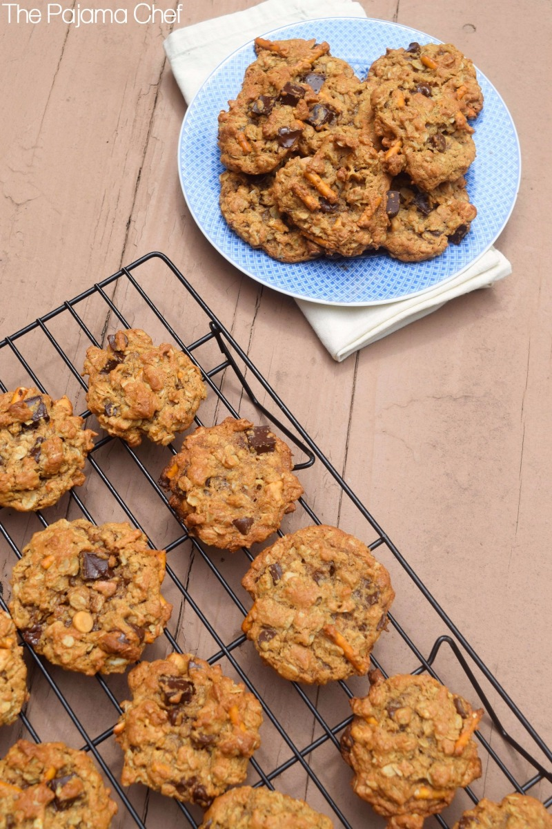 Soft Flourless Kitchen Sink Cookies #Choctoberfest