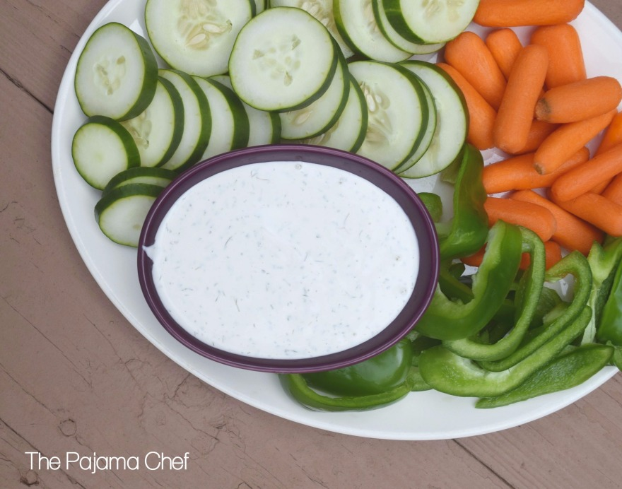 This cool and creamy fresh vegetable dip is easy to make. It's a great appetizer or side dish!