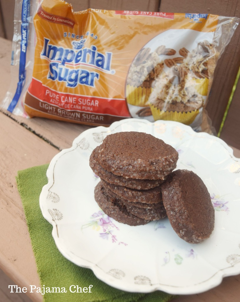 Chocolate slice and bake cookies... cardamom and orange flavors are so warm and perfect for the holiday season! I made these cookies for #Choctoberfest with the help of our Gold Sponsor, Imperial Sugar!